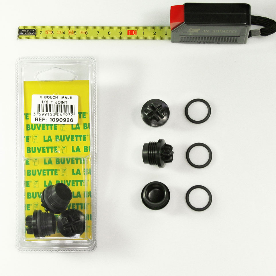 3 PLUG/WASHER 1/2 FOR F11 BLISTER PACK