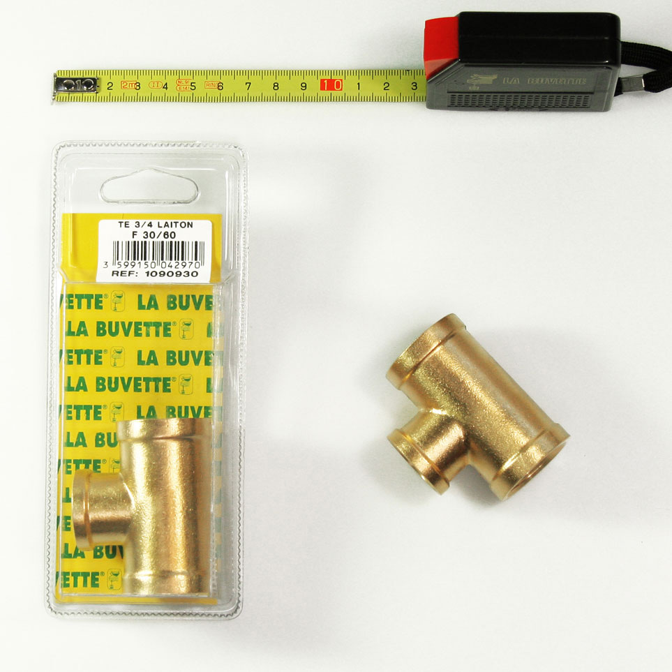 T CONNECTION  FFF 3/4-1/2-3/4 BRASS BLISTER PACK