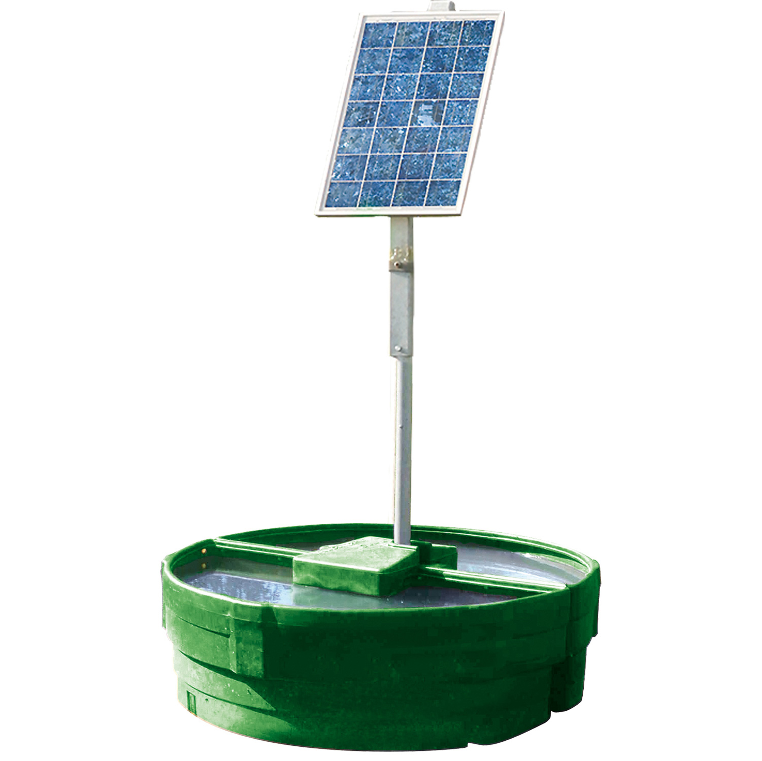 Autonomous solar-powered 900 l. drinker with battery.