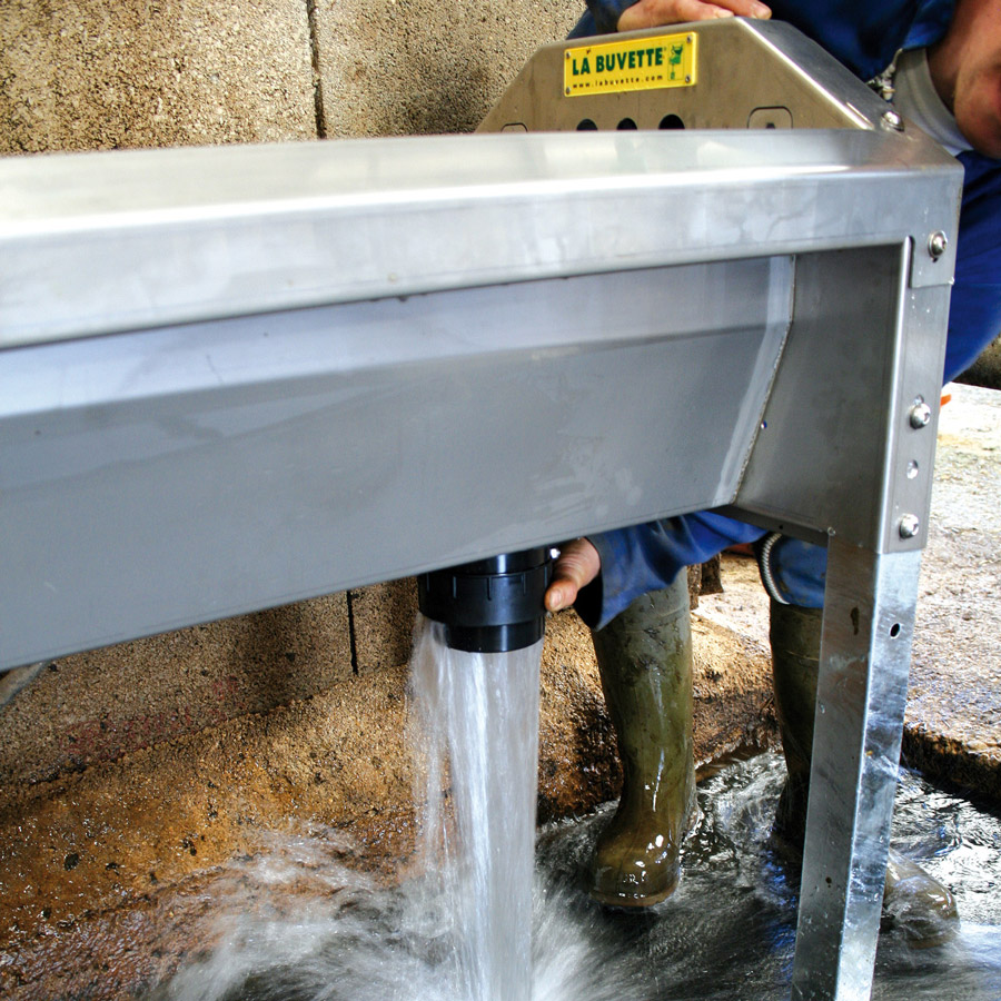 GV460 Stainless Steel Rapid-Drain Trough for Dairy Cows