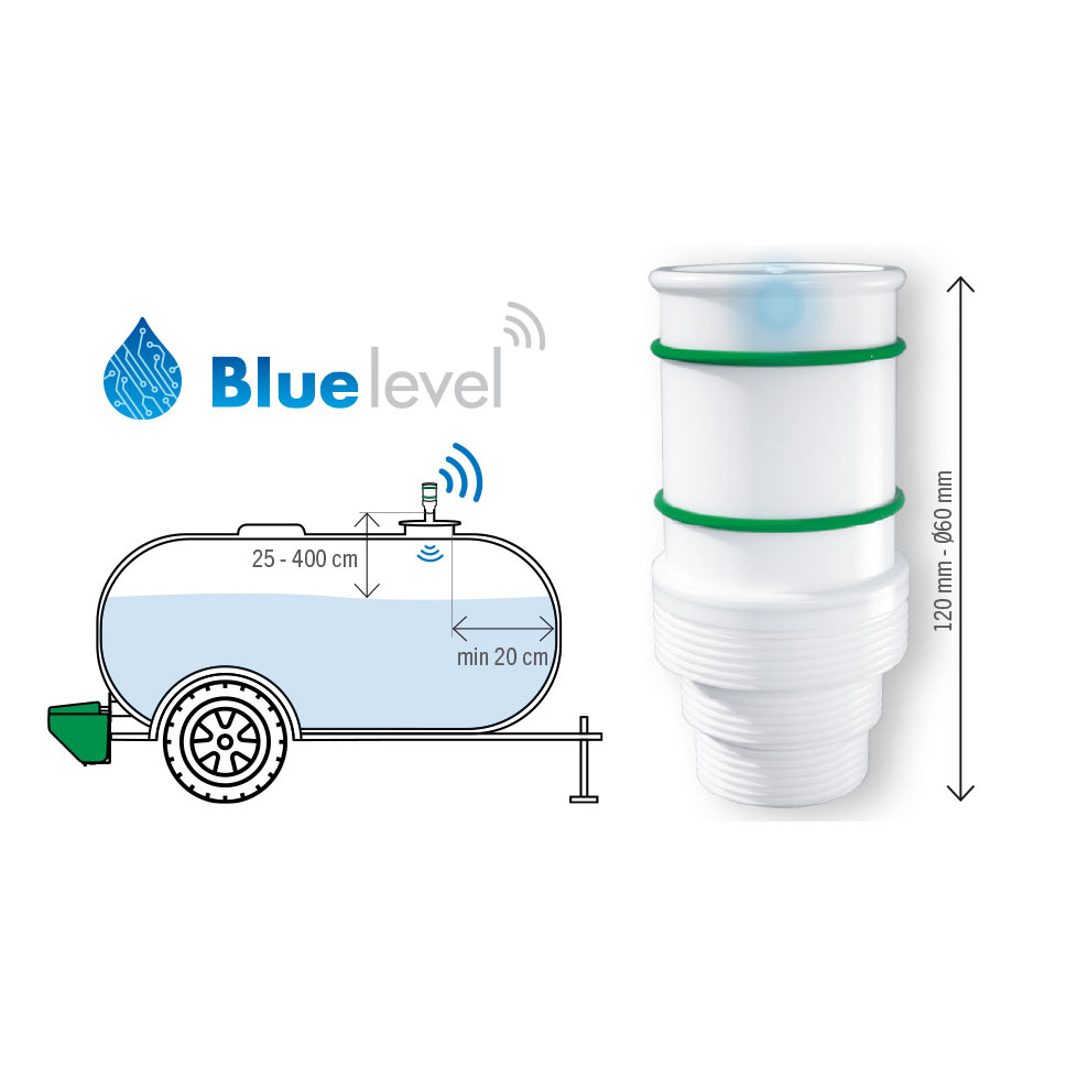 BLUE LEVEL connected gauge for tank