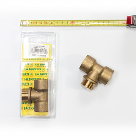 "Brass ¾"" T-Fitting for drinker with push paddle"