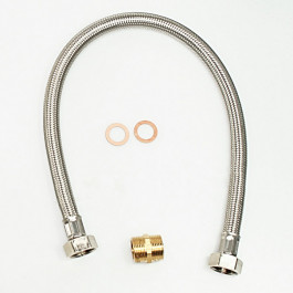 S.S. BRAIDED HOSE 3/4 FF - 600 mm
