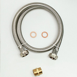 S.S. BRAIDED HOSE 3/4 FF - 1000 mm - Blister