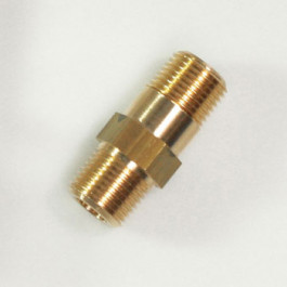 STRAIGHT FITTING 1/2 MM BRASS - BLISTER