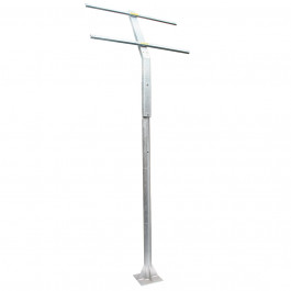 POLE AND SUPPORTS FOR SOLAR PANELS